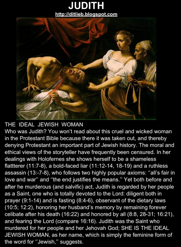 Judith, more Bible importance than Virgin Mary