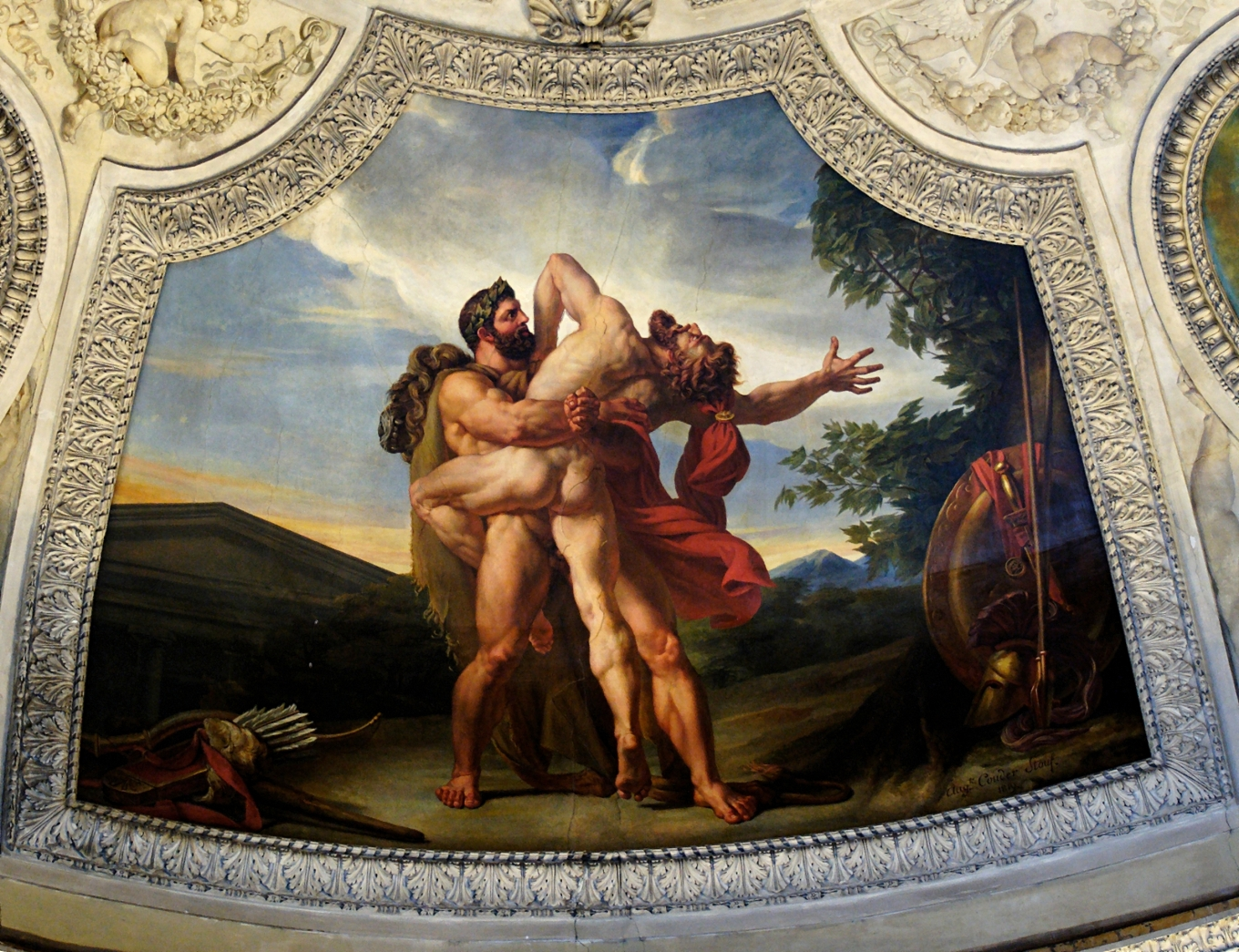 Herakles_Antaeus_Couder_decoration_Louvre_INV3378