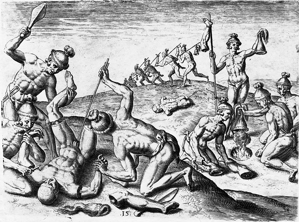 678_Jacques-678_le-moyne-how-the-indians-treated-the-corpses-of-their-enemy-clean