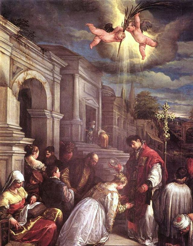 1313-St-valentine-baptizing-st-lucilla-jacopo-bassano