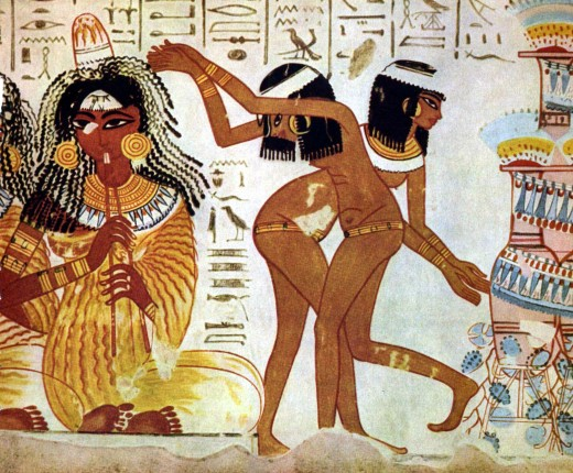 1584_Musicians_dancers_on_fresco_at_Tomb_of_Nebamun